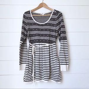 MOTHERHOOD MATERNITY Fair Isle Striped Sweater